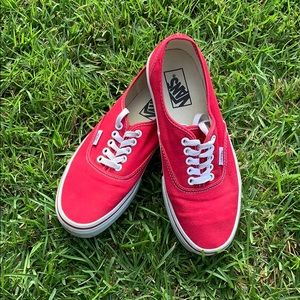 Vans Red Men's 7, Women's 8.5